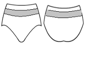 Dance pantie with mesh
