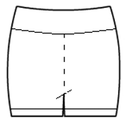 Hot pants with rollover waistband and leg accents