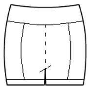 Front racing stripe hot pants with leg accents
