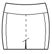 Side accented hot pants with rollover waistband