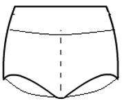 Boy Cut Shorts with Rollover Waistband