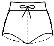 Boy cut shorts with drawstring waistband