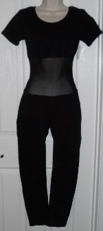 Black cotton bodysuit