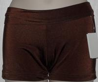 Hot pants with rollover waistband
