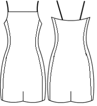 Straight cami with side panels