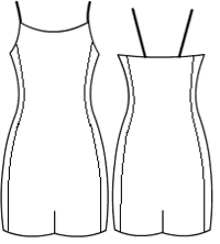 Binded camisole with side panels