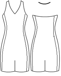 V neck halter with side panels