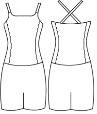 Low bodice double strap with side panel