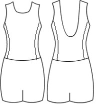 Low bodice ballet back with side panel