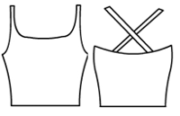 Double strap Crop top