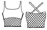 Double strap with mesh