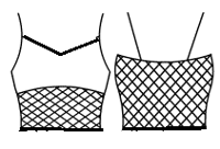 'V' Camisole with mesh