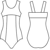 Empire Tank with camisole back-princess body Leotard