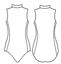 High neck collared with side panels