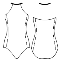 Triangle halter with side panels