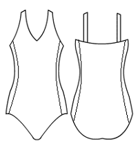 'V' Neck cami with side panels