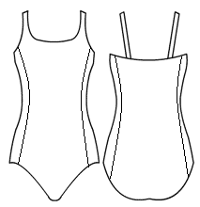 Double strap cami with side panels