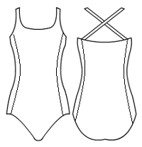 Double strap with side panels