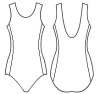 Ballet back with side panels