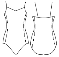 V binded camisole with side panels