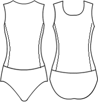Low Bodice boatneck with side panels