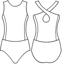 Low Bodice Crossback with side panels