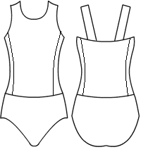 Low bodice tank bodice with side panel