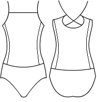 Low bodice straight spider back with side panel