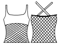 Double strap with mesh tankini