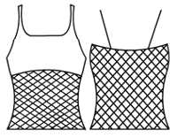 Double strap camisole with mesh tankini